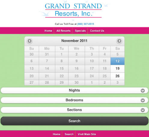 Grand Strand Resorts Goes Mobile