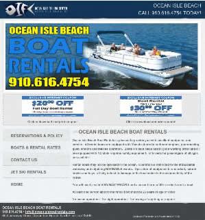 Ocean Isle Beach Boat Rentals