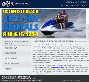 Ocean Isle Beach Jet Ski Rentals