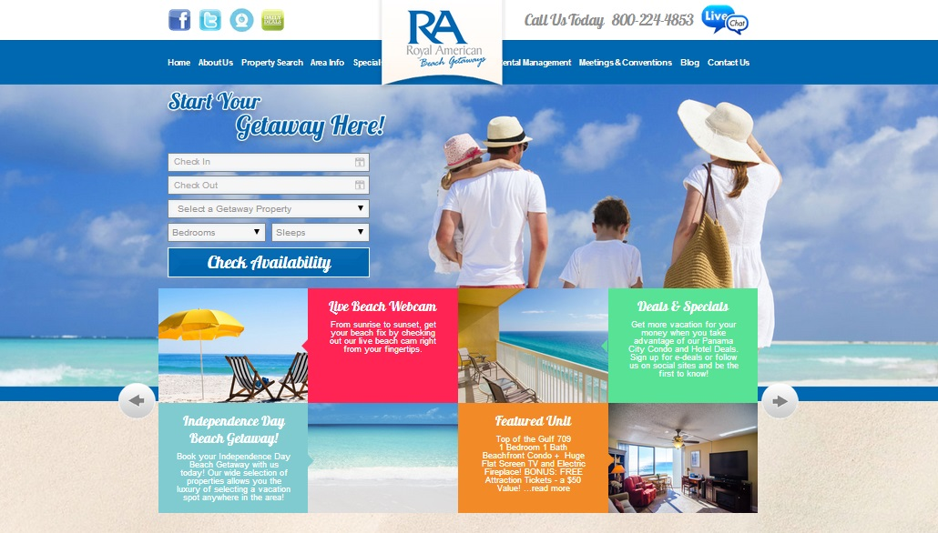 ra beach getaways