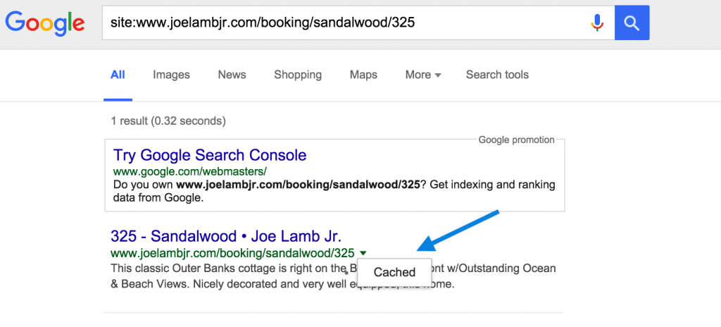 Search the cached version of each URL. Source: Joe Lamb Jr.